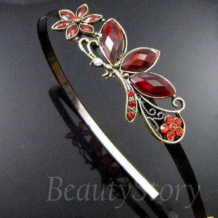 ADDL Item  antiqued rhinestone crystal butterfly