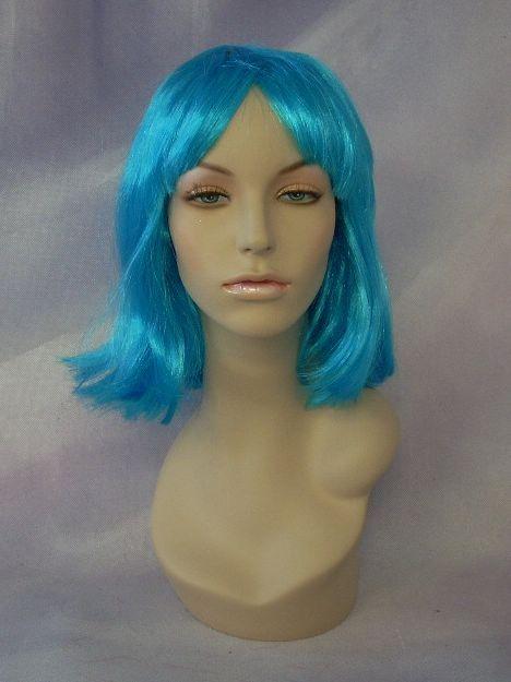 Costume wig Blue Mannequin Head Hair #WG SW075B