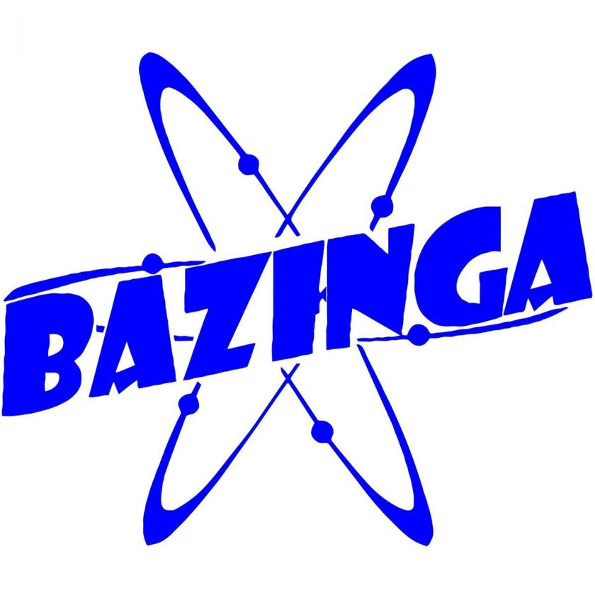 Bazinga Big Bang Theory Sheldon Cooper Car Window Wall Sticker Decal