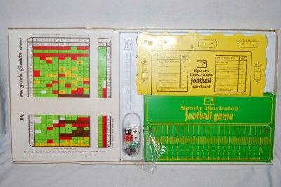 Vintage SPORTS ILLUSTRATED GAME Pro Football NFL Team charts