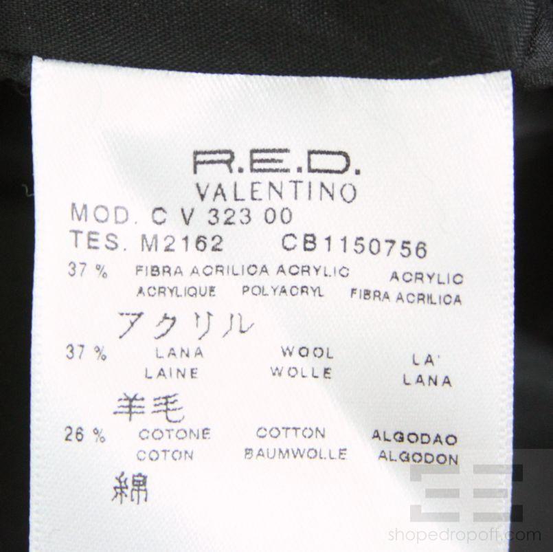 Valentino Brown And Black Zigzag Print Sleeveless Dress Size 44