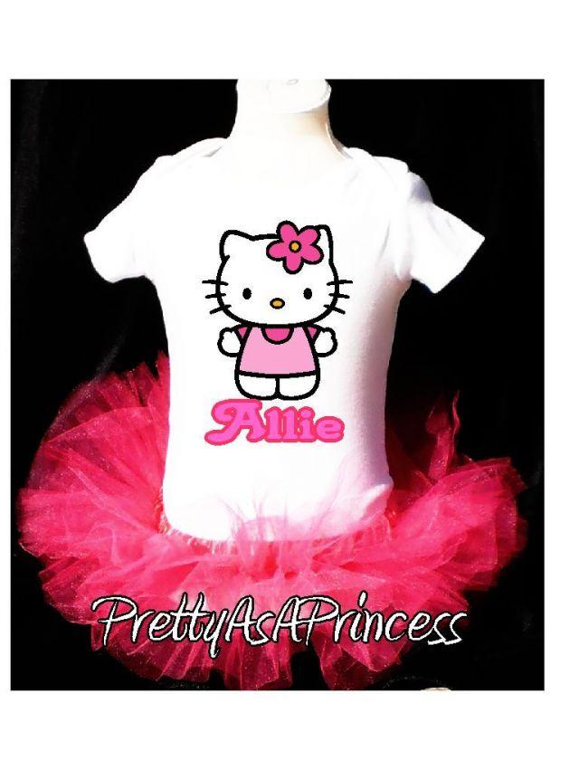 1st BIRTHDAY HELLO KITTY TUTU OUTFIT PINK DRESS