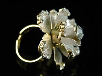 3D Rose Gold Plated Ring use Swarovski Crystal SR061