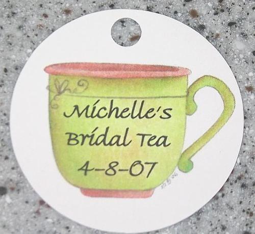 20 Personalized Teacup Favor Gift Tag Bridal Tea Shower