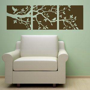 TREE BRANCH +2 BIRDS VINYL WALL DECAL STICKER ART DECOR 894708001045