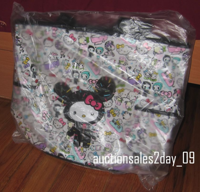 Tokidoki x Hello Kitty LARGE Tote Shoulder Bag Best Friends Mint