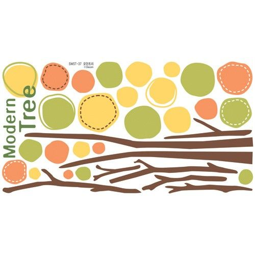 Modern Tree Adhesive Removable Wall Home Decor Accents Stickers Decals