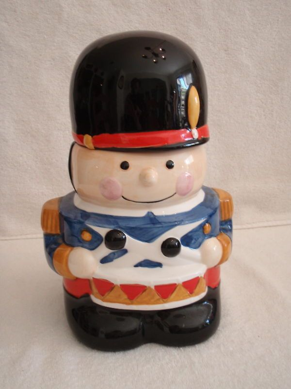Vintage Drummer Boy Soldier Ceramic Cookie Jar Unmarked