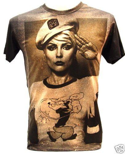 BLONDIE PoPEye Sailor 80s Indie VTG Punk Rock T Shirt M